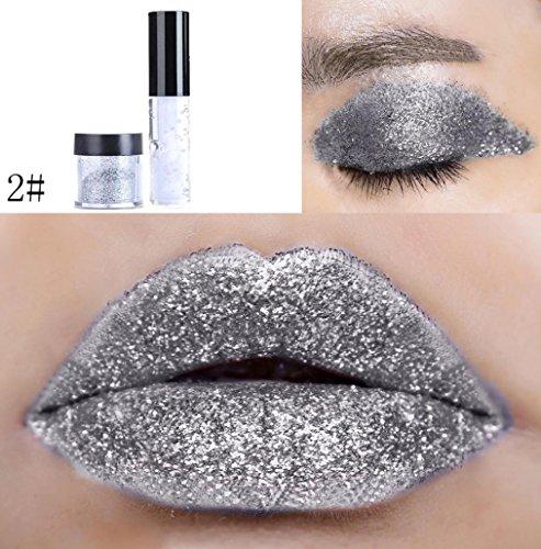 Dragon Ranee Shimmer Glitter Lip Gloss Powder Palette Glitte