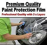 TIS (TM) 1520mm x 300mm Clear Transparent Car Paint Protection Film Vinyl Wrap. 3x Layers. Gloss Invisible Clear Bra - Similar to 3M Ventureshield / Scotchgard. Bonnet, Bumper, Side Sills, Wheel Arches etc.