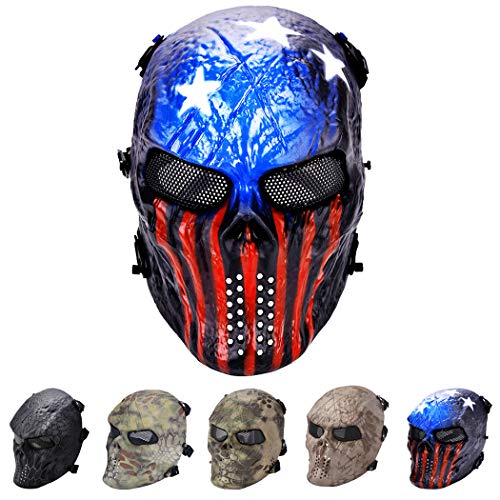 Outgeek Tactical Airsoft Mask Full Face Costume Mask Awesome Mask(Patriot) -