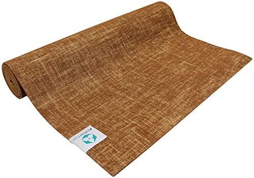 Esterilla de yoga de yute »Sampati Jute« / Esterilla de gran calidad hecha con PVC-ECO y fibra de yute / Transpirable, sin sustancias nocivas y muy ...
