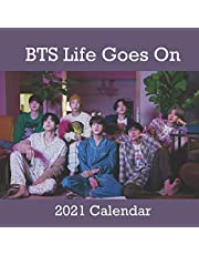 BTS Life Goes On 2021 calendar: BTS Life Goes On 2021 calendar : calendar 8.5x 8.5 glossy Calendar 2021 perfect to decorate your office or desk or as to gift for bts lovers and fans