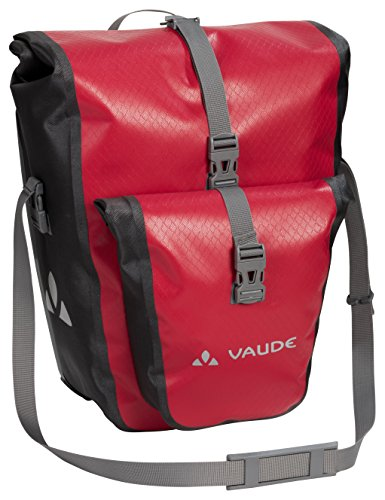 Pvc Bike Racks (VAUDE Aqua Plus - Rear Pannier Bike Bag - Set of 2 - PVC-Free Tarpaulin Bike Panniers - Waterproof Pannier Bags with Front Pocket and 51 Litre Total Storage Volume)