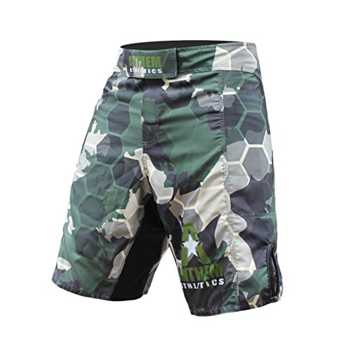 Anthem Athletics RESILIENCE Fight Shorts - Green Camo Hex - 36""