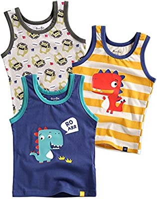 Pack of 3 BB-144 Vaenait baby 2T-7T Kids Boys 100/% Cotton Undershirts Tank Tops