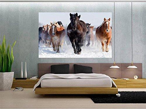 400cmX280cm 3d Custom photo mural 3d wallpaper Fine horses running decoration painting 3d wall murals wallpaper for walls 3d,F