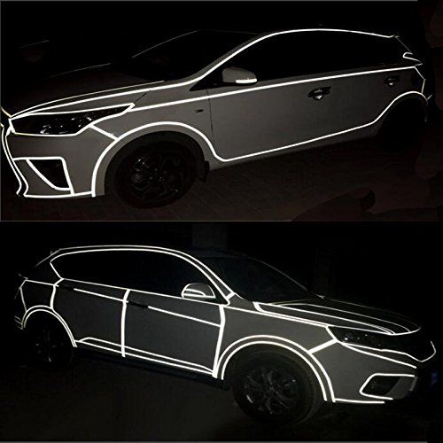 Tuqiang Reflective Tape Self-Adhesive Safety Warning Conspicously Night Reflective Film Sticker 5M*1CM