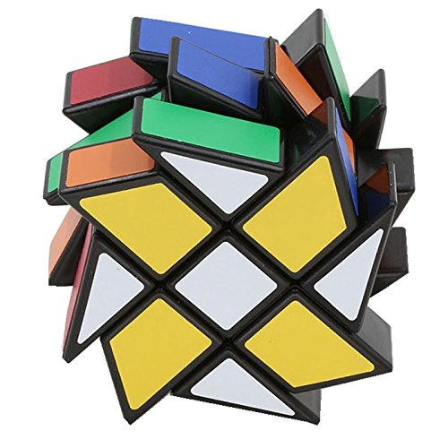QTMY Color Plastic Irregular 3x3x3 Square Mirror Speed Magic Cube Puzzle