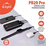 d.light PB20 Pro 20000 mAh Made in India Power Bank, Black for Heavy Duty Usage | 10W Fast Charging with Battery…