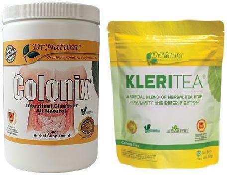 Dr. Natura Colonix Intestinal Fiber & Kleritea Combo