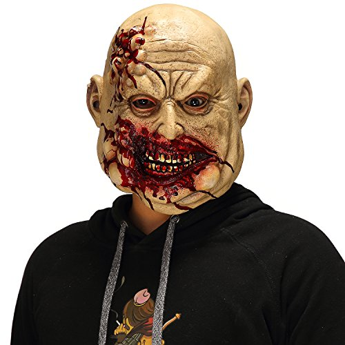 Mo Fang Gong She Scary Halloween The Walking Dead Cosplay Props, Horror Bloody Butcher Mask]()