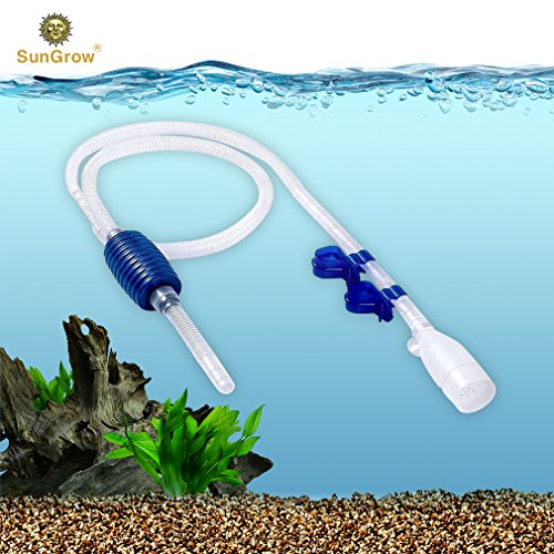 - Aquarium Gravel Cleaner with Clips - Quick & Easy Assembly - Long Nozzle Manual Water Pump - Great for Frequent Water Changes - Fish Tank Cleaning Kit for Saltwater and Freshwater