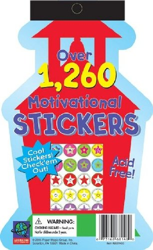 Eureka Die Cut Stickerbook - Schoolhouse Learning Playground Sticker Book (Bulletin Schoolhouse Board Set)