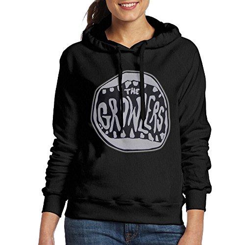 Growlers Women's Fleece Hoodie S Black