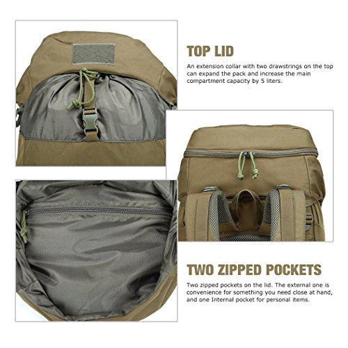 Mardingtop 50 Liter Internal Frame Backpack Tactical