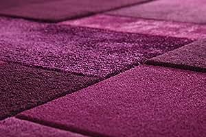 Esprit - Patchwork Handtuft - Purple - 200 x 200 cm