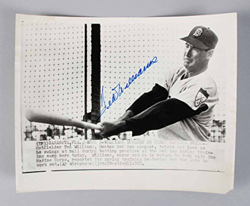 Boston 1952 Red Sox - 1952 Boston Red Sox Ted Williams Signed 8x10 B&W Wire Photo - JSA Full LOA