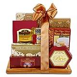 Burgundy and Gold Cheeseboard
