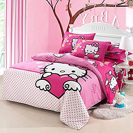 0c1401885 Olwen Shop Duvet Cover Set - Hello Kitty Bedding Set Children Bed Linen  Cartoon Duvet Cover