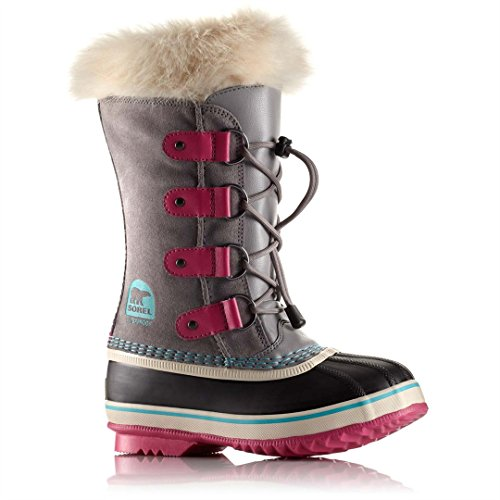 Sorel Kid's Joan of Arctic Waterproof Winter Boot - Light Gray - Big Kid - 7 by SOREL