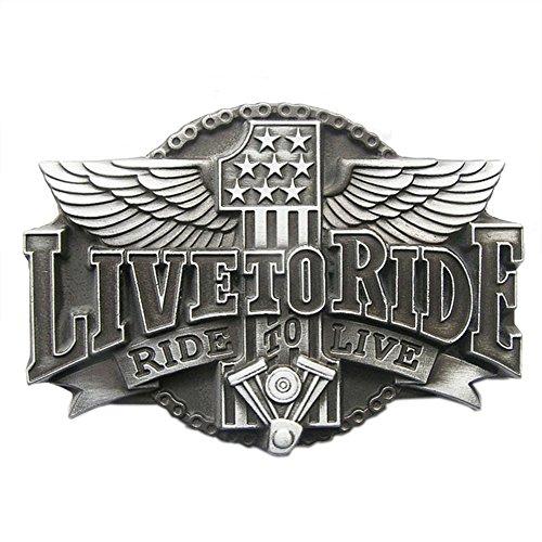 New Vintage Flag Motorcycle Rider Biker Belt Buckle also US - Buckle New Flag Belt