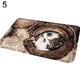 MG554zy0 Cute Cat Puppy Print Floor Mats Bedroom Carpet Anti-Slip Kitchen Toilet Doormat Cute Cat Puppy Print Floor Mats Bedroom 5#