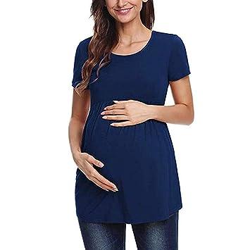 39f4950c535 Women s Round Neck Maternity Top