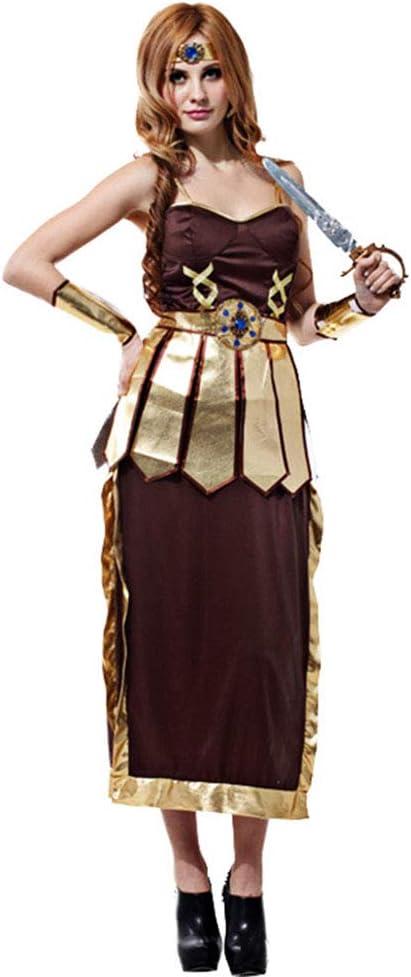 CAGYMJ Cosplay Dress Party Ropa,Hembra Roma Antigua Samurai Falda ...