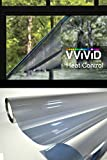 VViViD Heat Control Platinum Silver 18 inch by 60 inch Window Film Roll for Residential Home, Commercial Office