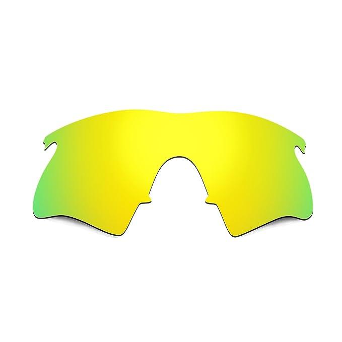 d69e323e0a Hkuco Mens Replacement Lenses For Oakley M Frame Heater Sunglasses 24K Gold  Polarized