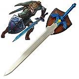 RealFireNSteel The Legend of Zelda - Link's Master Sword (with Plaque)