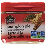 Club House, Quality Natural Herbs & Spices, Pumpkin Pie Spice, Plastic Can, 35g