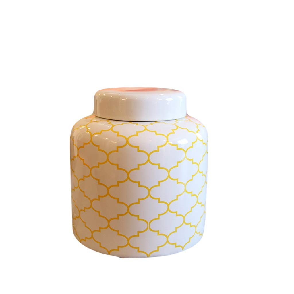 MAHONGQING 花瓶現代クリエイティブホームリビングルーム花瓶セラミック装飾飾り花セットテレビカウンター花装飾 (Size : S) B07S3VXQSN  Small