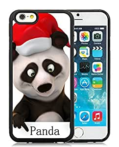 Popular Design iPhone 6 Case,Christmas Panda Black iPhone 6 4.7 Inch TPU Case 2