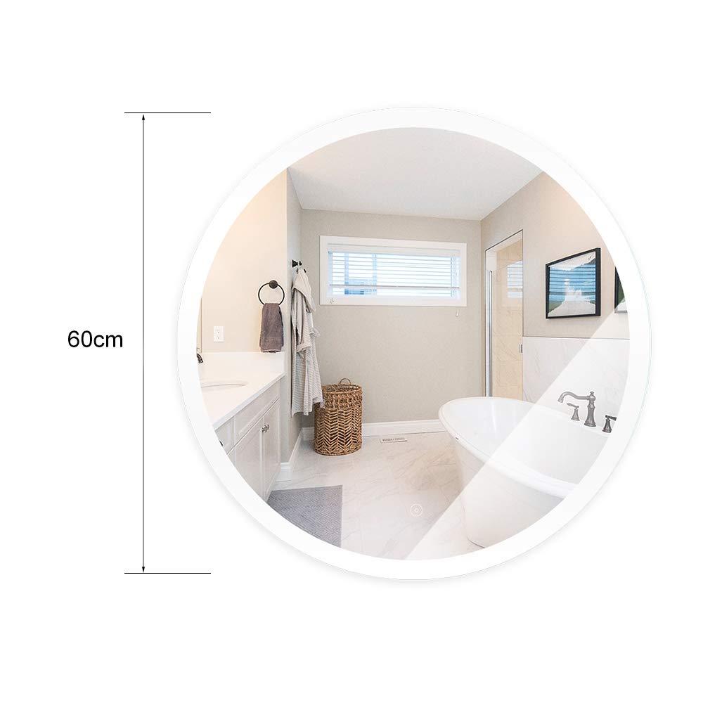 500x700mm Miroir LED Lampe de Miroir /Éclairage Salle de Bain Miroir Lumineux Solide de Verre Tremp/é 2 Tailles