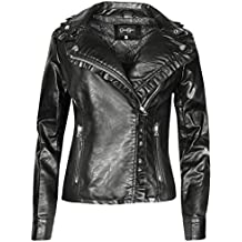 Jessica Simpson Womens Faux Leather Moto Biker Jacket
