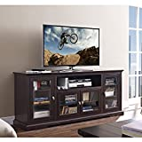 New 70 Inch Wide Highboy Style Wood Tv Stand-Espresso Brown Finish