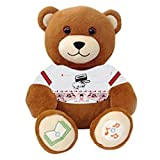 Hip-Hop DJ Bear Ultra-portable Wireless Bluetooth Teddy Bear Speaker,recordable Stuffed Animal Compatible with All Bluetooth Devices