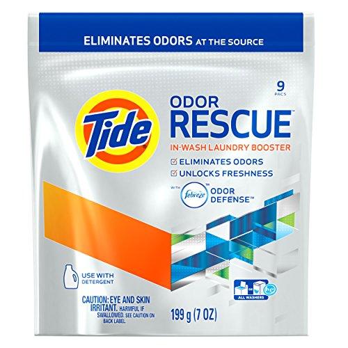 (Tide Odor Rescue with Febreze Odor Defense In-Wash Laundry Booster, 7.0 oz, 9 Pacs)