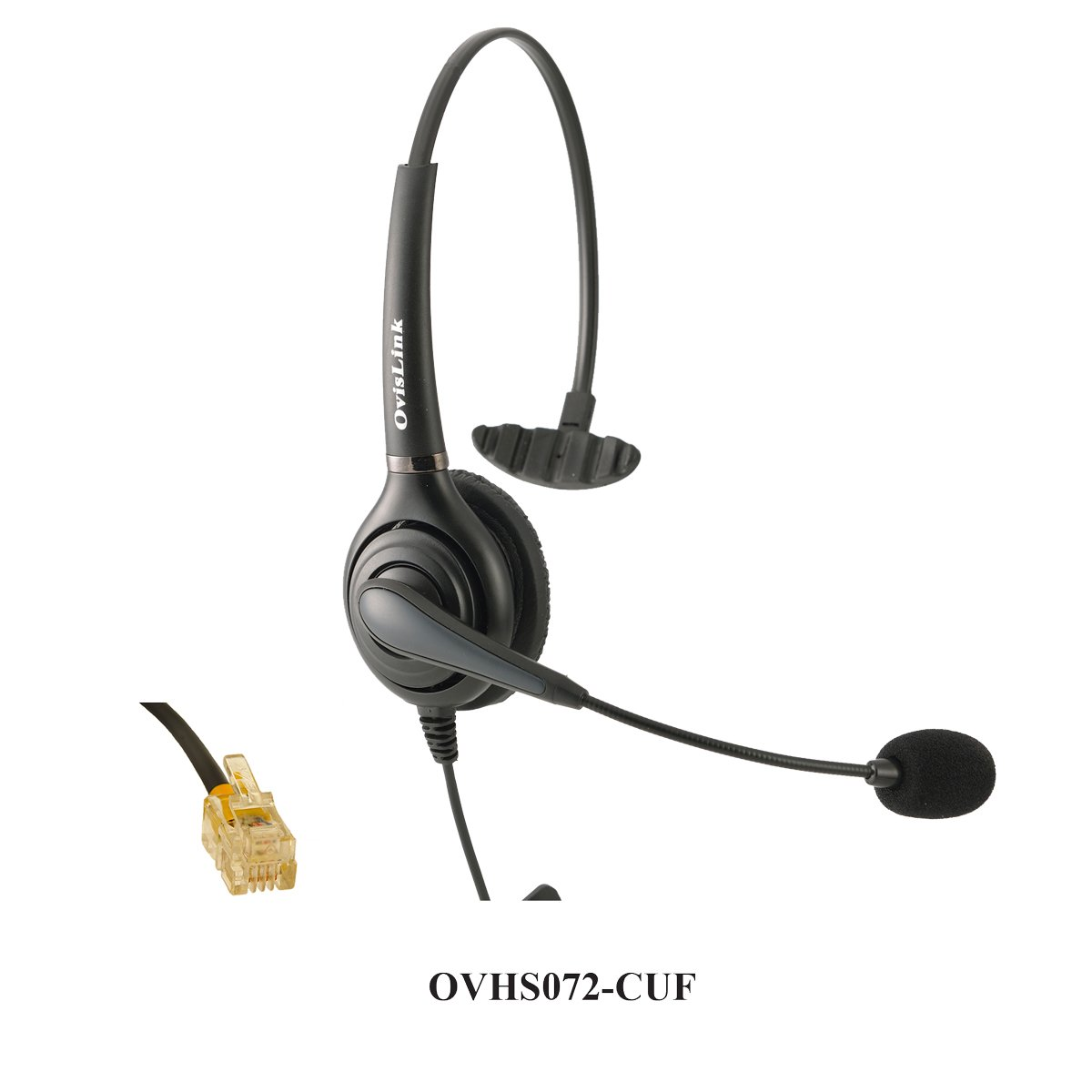 OvisLink corded Cisco Headset   Noise Cancelling Microphone headset compatible with Cisco phones with RJ9 headset jack   RJ9 headset Quick Disconnect cord included   2 Years Warranty