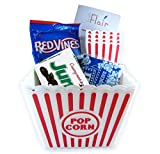 popcorn and butter packets - 2 Popcorn Containers and 4 Small Popcorn Baskets for Kids Reusable With 3 Packets of Act 2 Microwave Butter Popcorn with Candies and LWF Booklet - Perfect for Family Movie Night (w / Junior Mints)