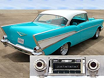 Chevrolet Bel Air >> Custom Autosound Stereo Compatible With 1957 Chevy Bel Air Nomad 150 210 Usa 630 Ii High Power 300 Watt Am Fm Car Stereo Radio