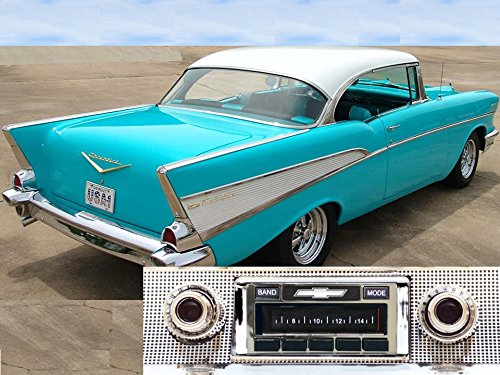 1957 Chevy Bel Air & Nomad, 150/210 USA-630 II High Power 300 watt AM FM Car Stereo/Radio with iPod Docking Cable Air Vintage Radio