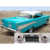 1957 Chevy Bel Air & Nomad, 150/210 USA-630 II High Power 300 watt AM FM Car Stereo/Radio with iPod Docking Cable