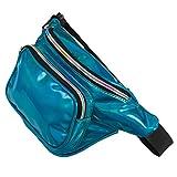 FZGJ Fanny Pack-PU Waterproof Rave Festival Hologram Travel Waist Bag