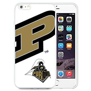 Beautiful And Popular Designed With Ncaa Big Ten Conference Football Purdue Boilermakers 6 Protective Cell Phone Hardshell Cover Case For iPhone 6 Plus 5.5 Inch White
