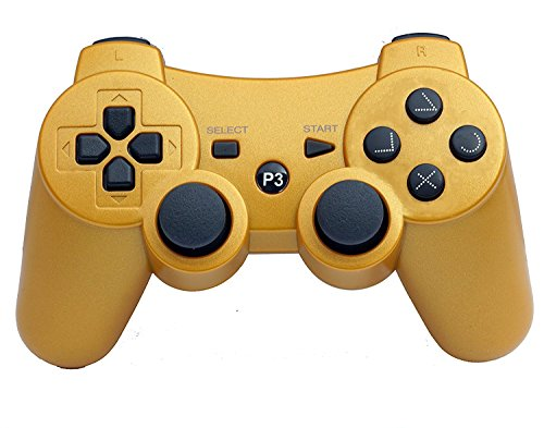 Wireless Pad Ps3 (PS3 Wireless Remote Controller GamePad for use Compatible with Playstation 3 PS3 (Gold))