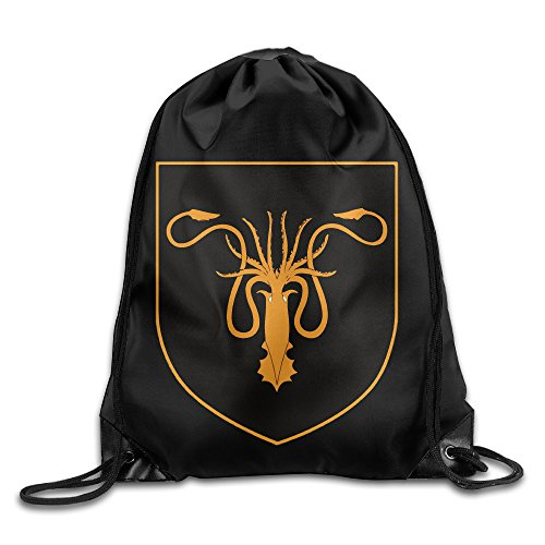 House Greyjoy Coat Sigil Sport Backpack Drawstring Print Bag by BG FunnyM (Image #1)