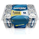 Rayovac Alkaline D Batteries, 813-12PP, 12-Pack with Recloseable Lid