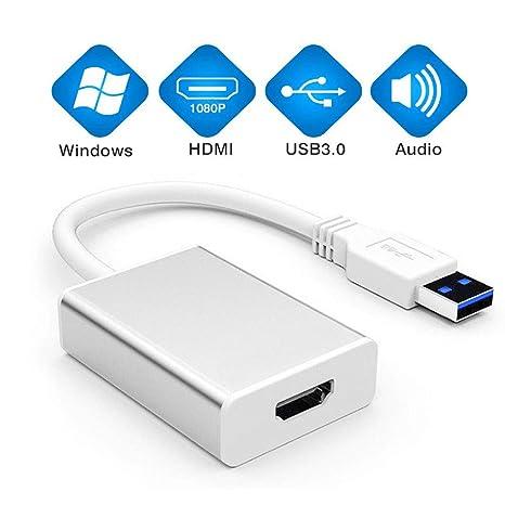 USB to HDMI Adapter, CHIULOIAN USB 3 0 to HDMI Cable Multi-Display Video  Converter- PC Laptop Windows 7 8 10,Desktop, Laptop, PC, Monitor,  Projector,