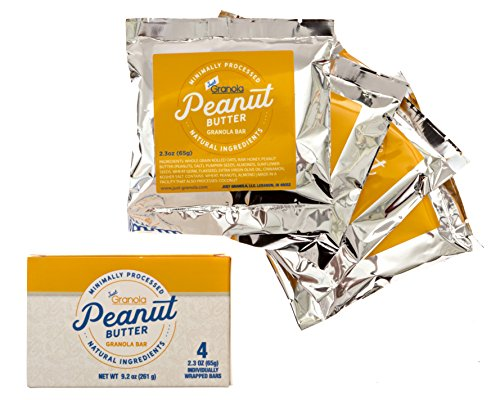 Just Granola Peanut Butter Bars (Pack of 8) - Gourmet, Natural Ingredients, Raw Honey, Prebiotics - Quick Low Calorie Breakfast, Great Lunch Item for Kids, Perfect Snack for Sporting Events - Chewy by Just Granola (Image #1)